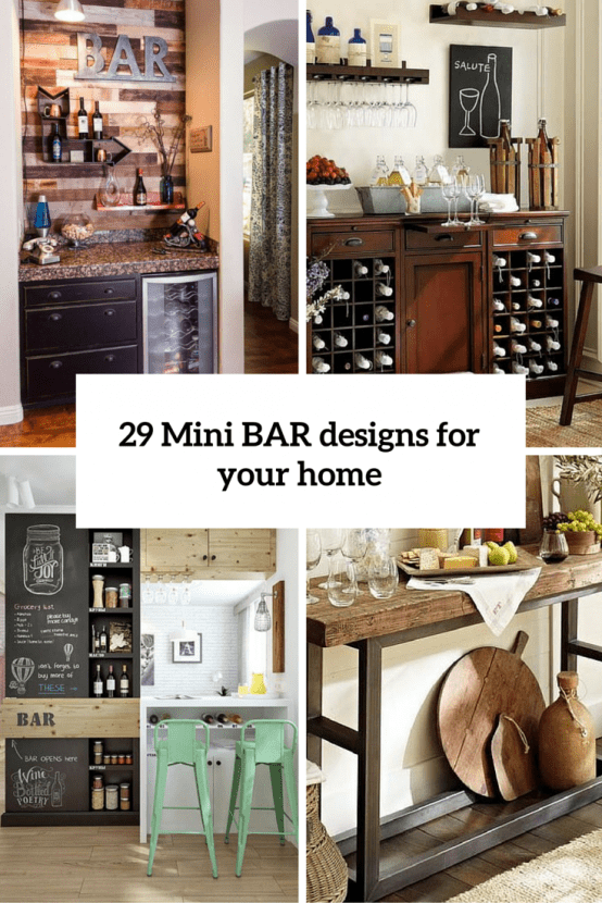 29 mini bar designs that you should try for your home for Design your home