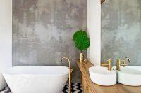 29 patterned black and white bathroom floors