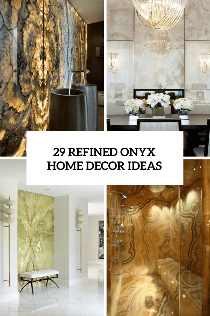 29 Refined Onyx Décor Ideas For Any Interiors