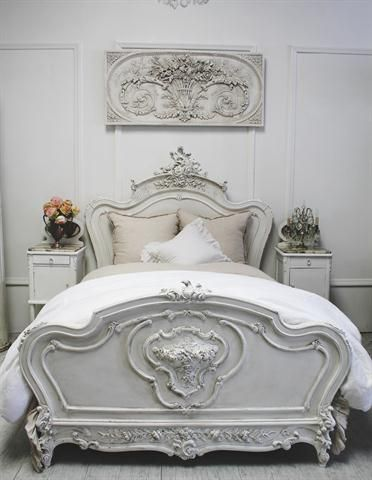shabby chic wood girlish headboard