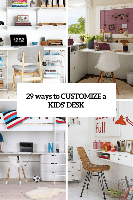 ways to customize kids desks cover