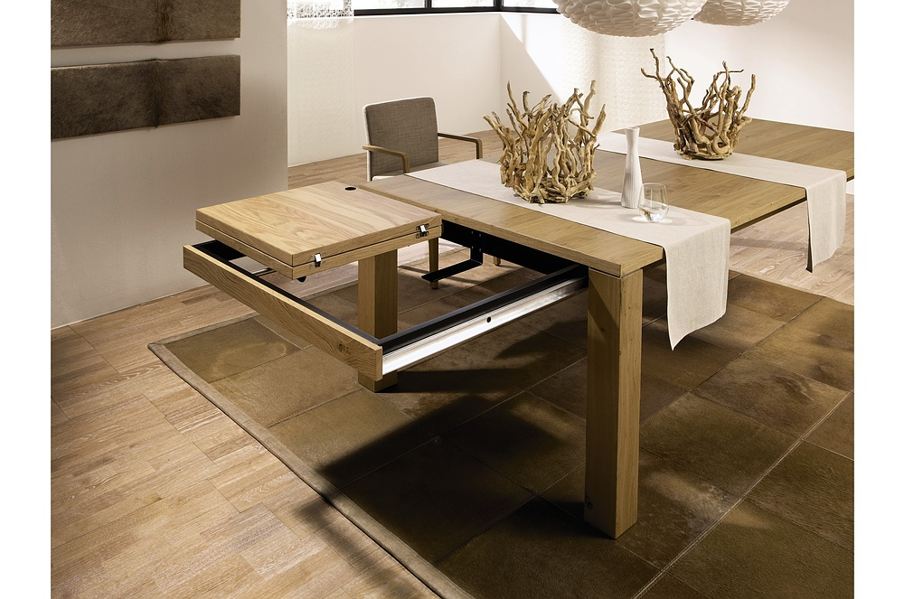 3 new modern expandable dining tables from h lsta digsdigs for Table salle a manger carree 12 personnes