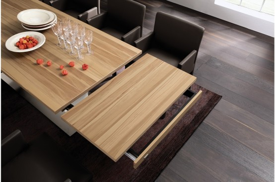 Expandable Dining Table 3 new modern expandable dining tables from hülsta - digsdigs