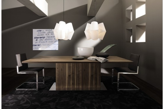 3 New Modern Expandable Dining Tables from Hülsta