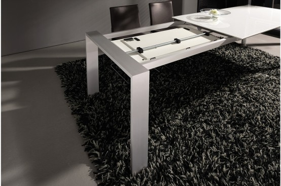 3 new modern expandable dining tables from h lsta digsdigs. Black Bedroom Furniture Sets. Home Design Ideas