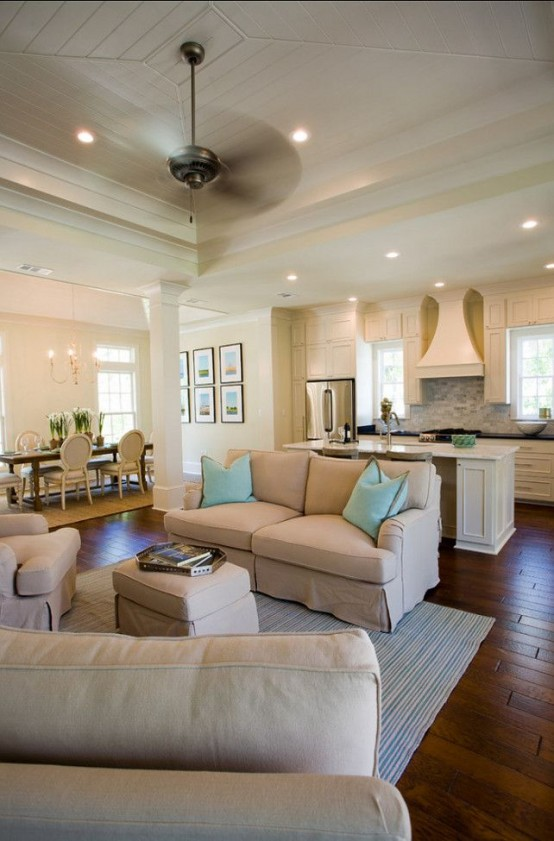 3 tips to unite the kitchen and the living room right - Kitchen Living Room Floor Plans
