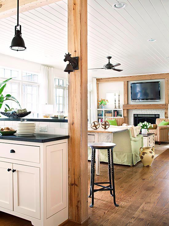 picture of 3 tips to unite the kitchen and the living room