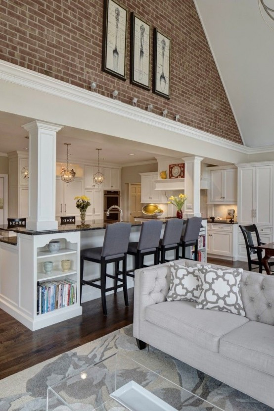 Traditional interiors could also be open-plan.