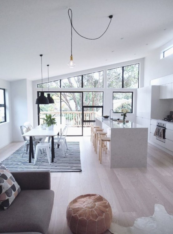 Modern Kitchen Living Room 3 tips and 34 examples to unite the kitchen and the living room