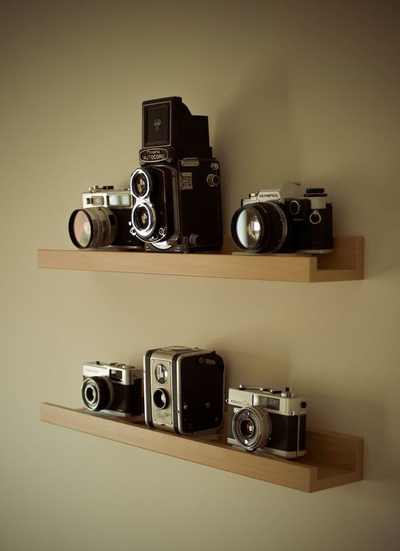 Ribba vintage camera shelf