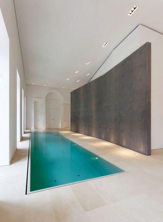 long and narrow inside pool