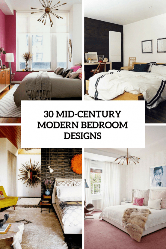 30 chic and trendy mid century modern bedroom designs Mid century modern design ideas