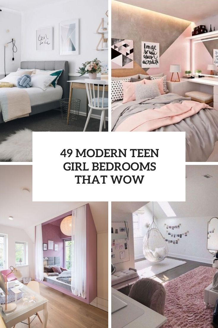 30 Modern Teen Girl Bedrooms Ideas Cover