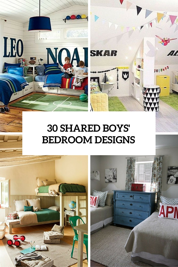 30 awesome shared boys room designs to try digsdigs for Boy small bedroom ideas