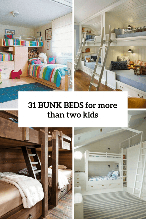 Elegant 31 Cool And Practical Bunk Beds For More Than Two Kids Images
