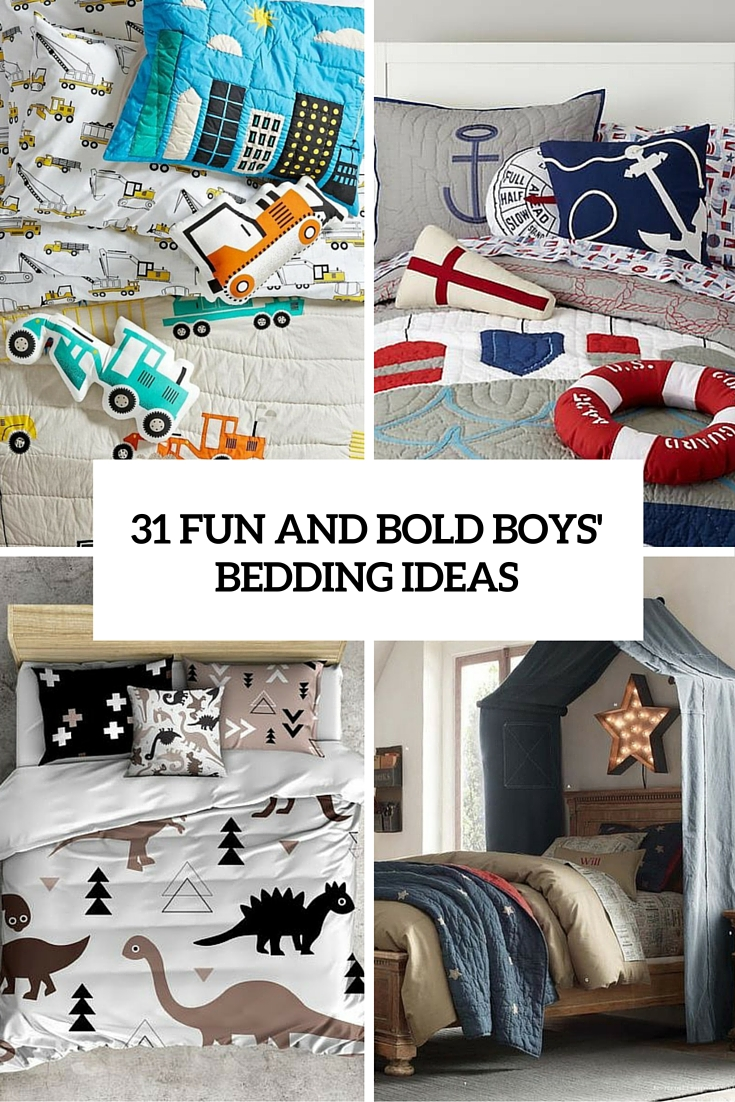 31 Fun Bedding Ideas For Bold Boys' Room Designs