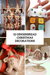 32 Gingerbread Christmas Decorations Cover