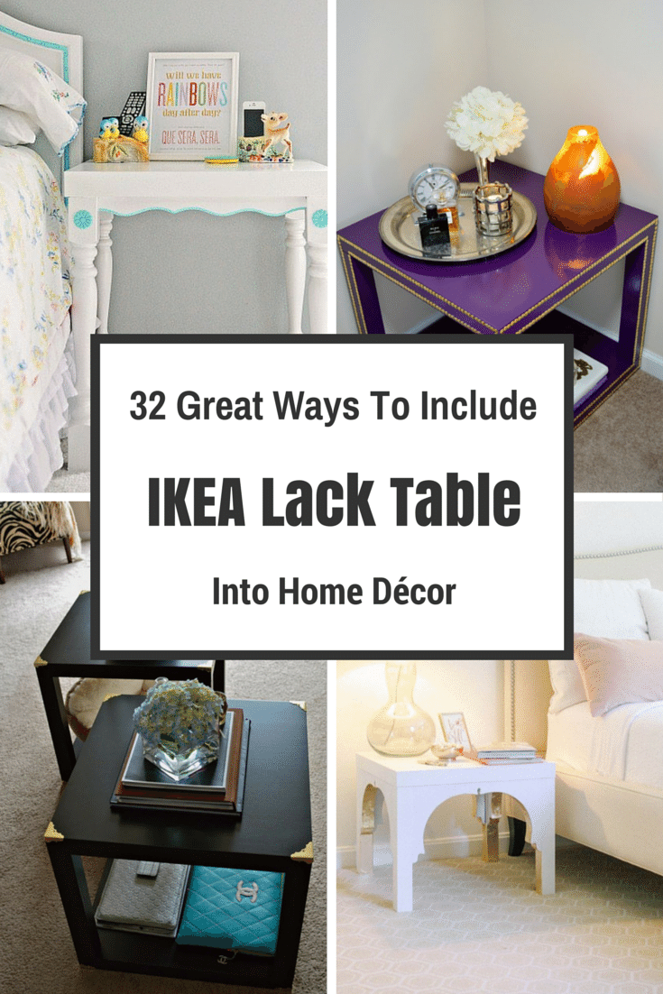 32 Great Ways To Include IKEA Lack Table Into Home Décor