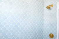 34 fish scale bathroom tiles