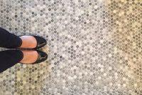 34 penny bathroom floor tiles