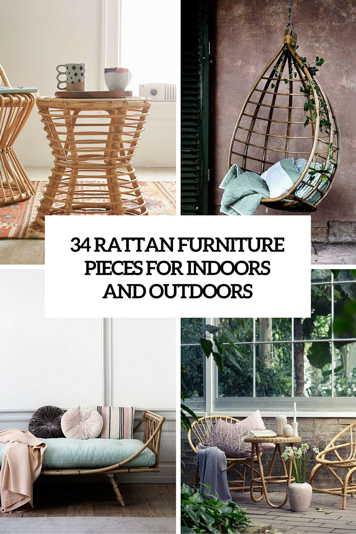 34 Cool Rattan Furniture Pieces For Indoors And Outdoors