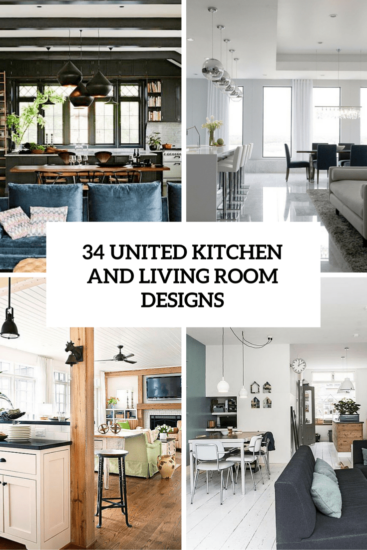 United Kitchen And Living Room Designs Cover