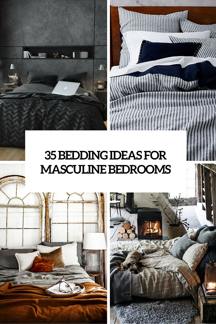 35 bedding ideas for masculine bedrooms cover