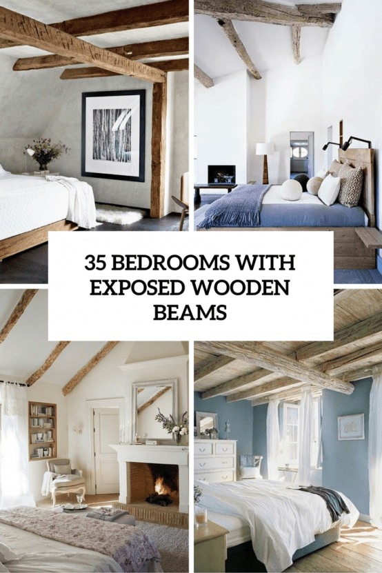 35 Chic Bedroom Designs With Exposed Wooden Beams