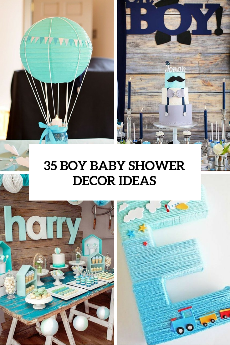 35 boy baby shower decorations that are worth trying for Baby boy mural ideas
