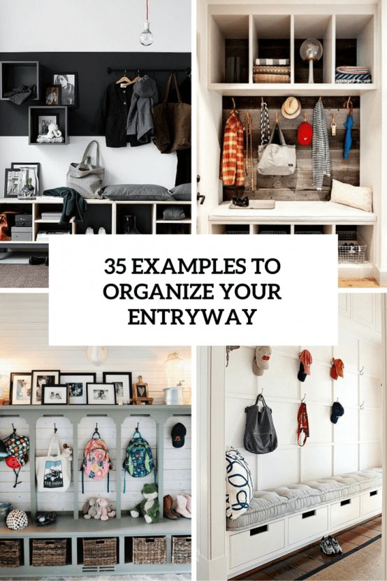 35 examples to organize your entryway cover
