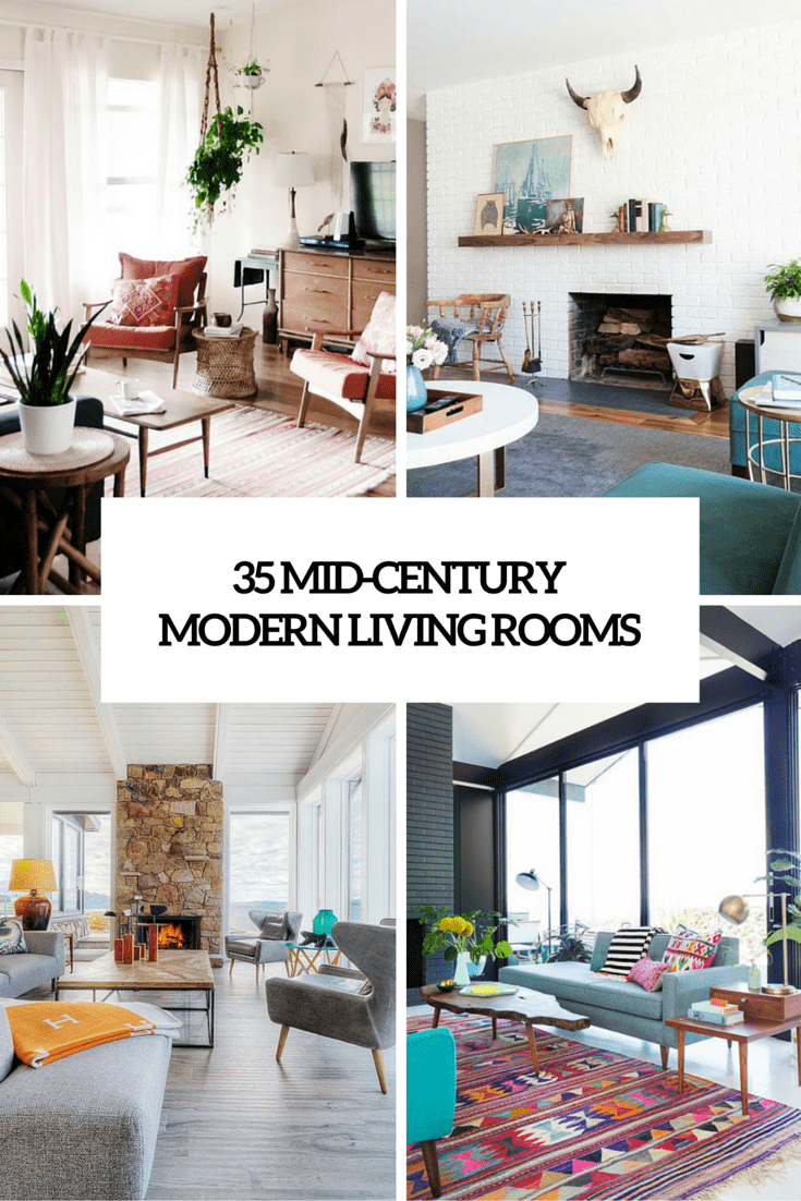 35 Gorgeous Airy Mid-Century Modern Living Rooms