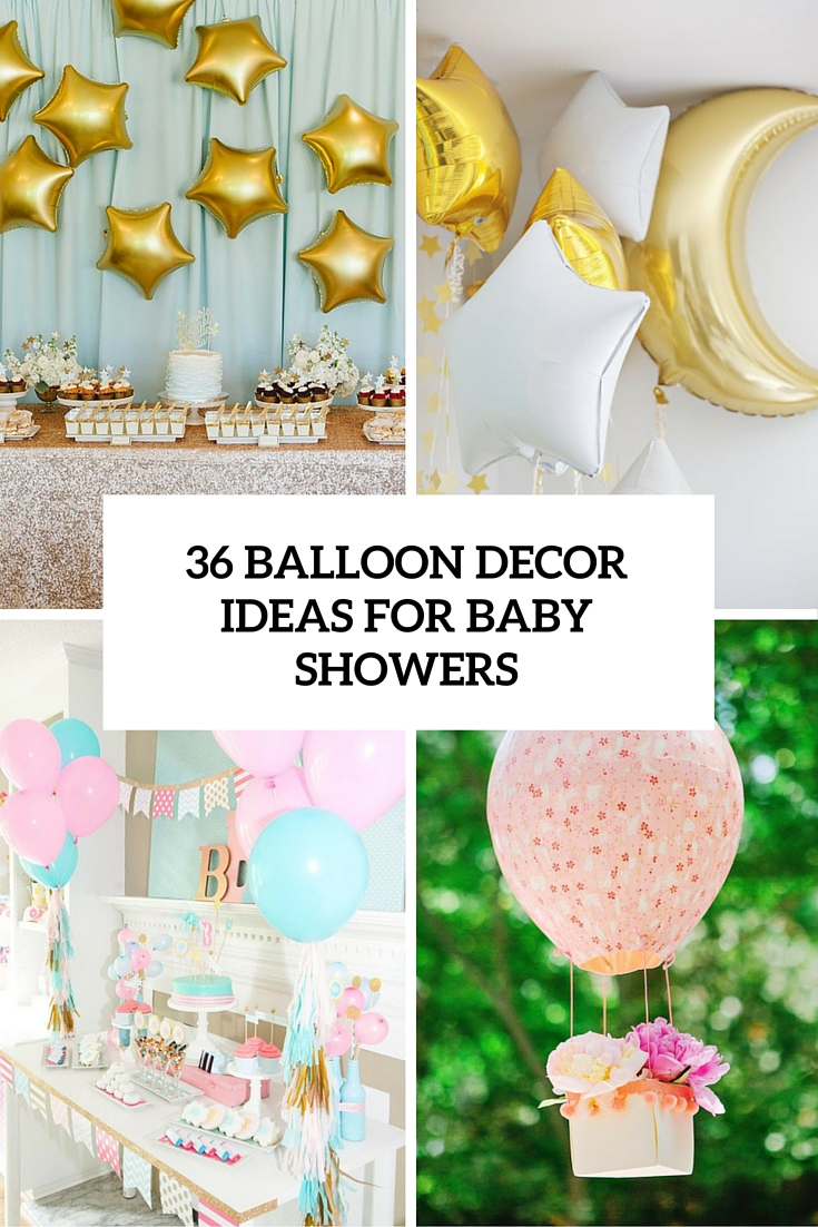 36 cute balloon d cor ideas for baby showers digsdigs for Baby shower ceiling decoration ideas