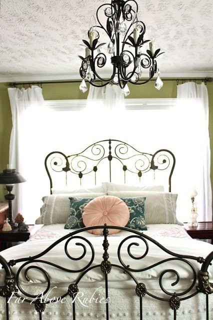 vintage forged girlish headboard