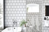 38 black and white checked mosaic bathroom tiles