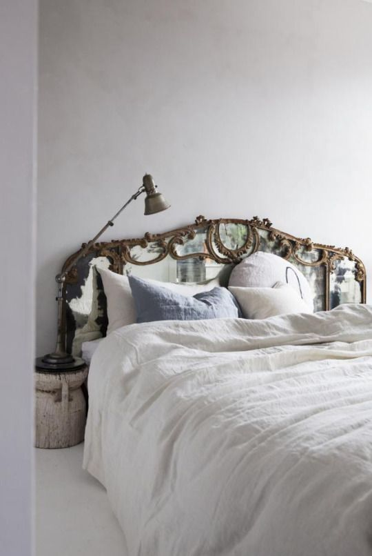 antique mirror headboard