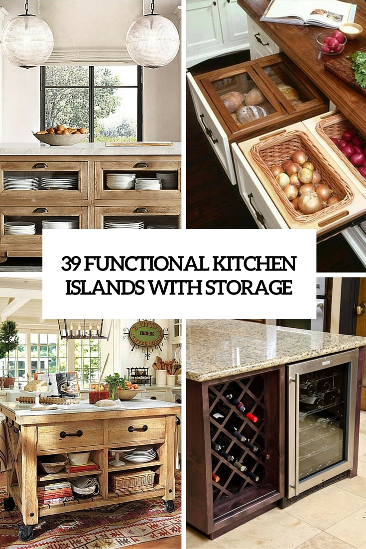 39 functional kitchen islands with storage cover