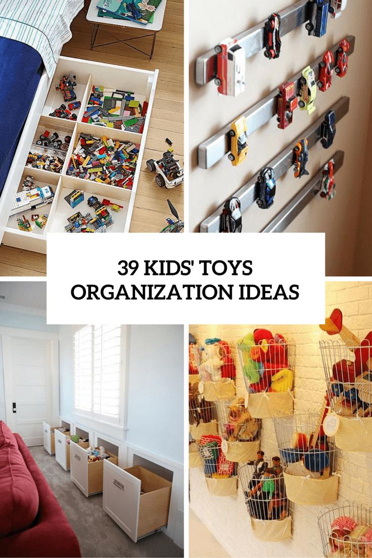 39 kids toys storage ideas cover