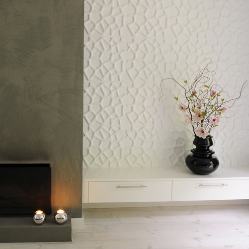 3d wall coverings to add an extra dimension to your walls for Wallpaper ideas