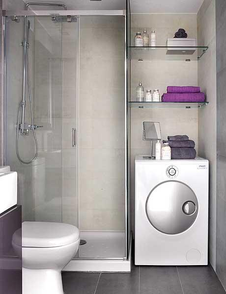 Small Square Bathroom Ideas : ... Interior Design of a Small 40 Square Meter Apartment - DigsDigs