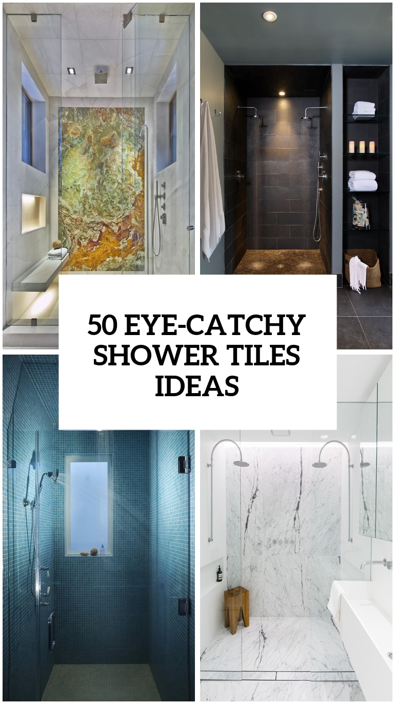 41 cool and eye catchy bathroom shower tile ideas digsdigs Bathroom tile decorating ideas