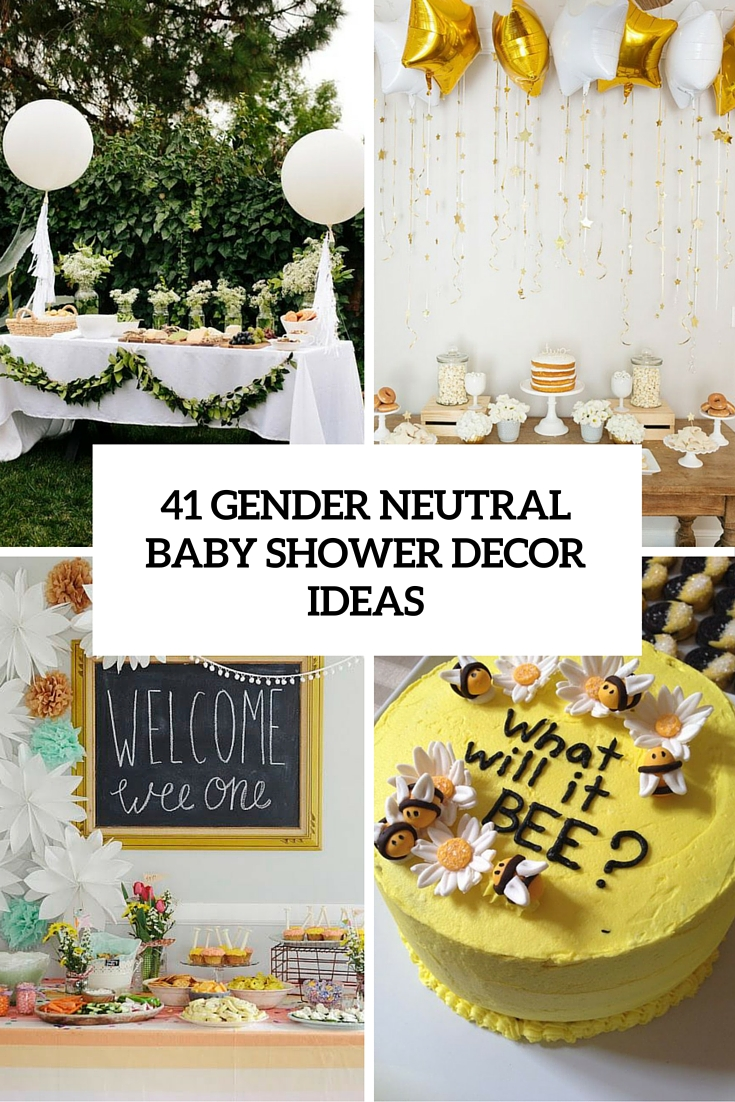 41 gender neutral baby shower d cor ideas that excite for Baby shower decoration images