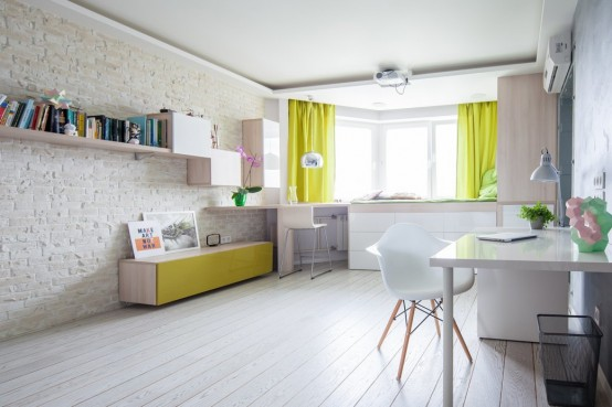 42 Square Meters Apartment With A Smart Design And Bright Accents