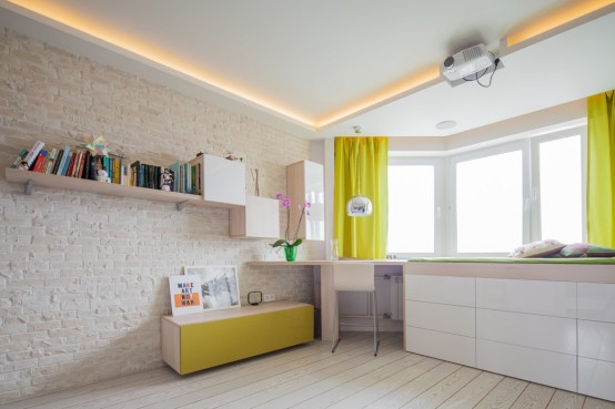 Square Meters Apartment With A Smart Design And Bright Accents
