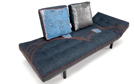 An Unusual Sofa That Wears Jeans