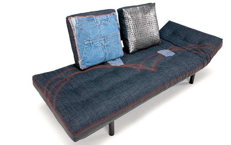 An Unusual Sofa That Wears Jeans