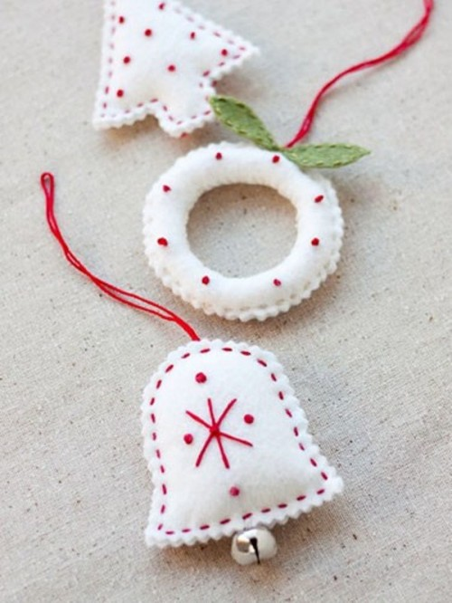56 Original Felt Ornaments For Your Christmas Tree