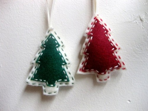 Diy Christmas Decorations Felt : Original felt ornaments for your christmas tree digsdigs