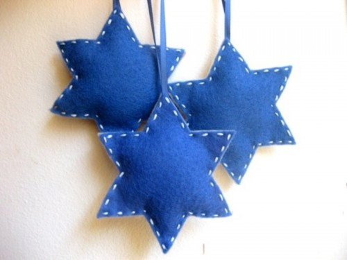 blue and white star-shaped Christmas ornaments will be a nice idea for Christmas, you can DIY as many as you want