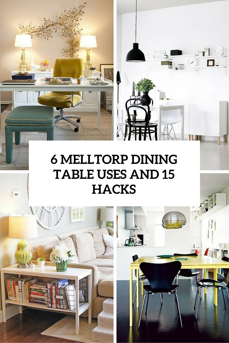 Marvelous  IKEA Melltorp Dining Table Uses And Hacks