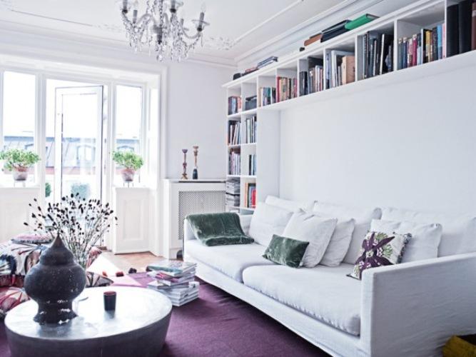 White And Purple Apartment Near Copenhagen
